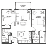 The Cypress : 990 SQ. FT.