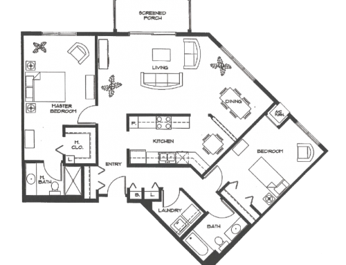 The Spruce : 1283 SQ. FT.